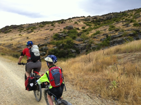 With an injured knee, being towed meant our son could complete the adventure and not miss out.