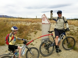A bit of help conquering the highest point of the Otago Central Rail Trail