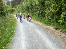 A great ride to do with another family, as it is easy to enjoy a chat on the way.