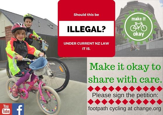 Footpath cycling NZ