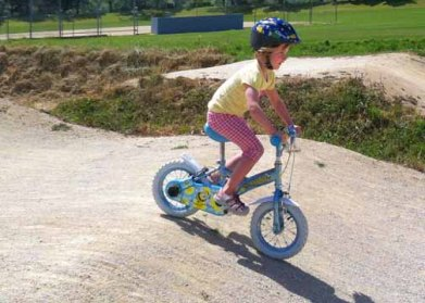 Small wheels on the BMX track
