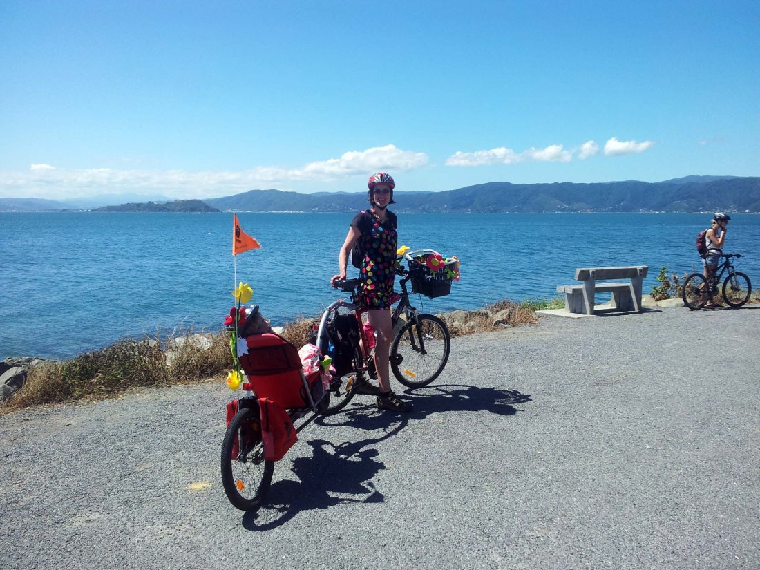 Cycling with kids in New Zealand